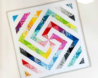 Rainbow Swirl Mini Quilt PDF Pattern