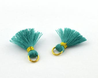 Small PomPoms 2 set of 2 cm / Emerald PO48 FM