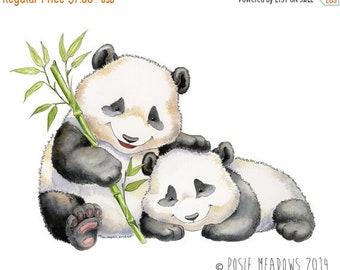 Sale Panda Bear, Baby Panda Art, Panda Nursery, Panda Bear Print, Panda Painting, Panda Watercolor, Watercolor Nursery, Nursery Decor, Panda