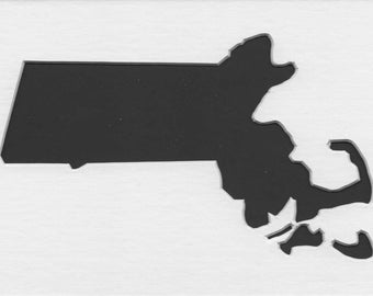 Pack of 3 Massachussetts State Stencils Made From 4 Ply Mat Board 11x14, 8x10 and 5x7 -Package includes One of Each Size