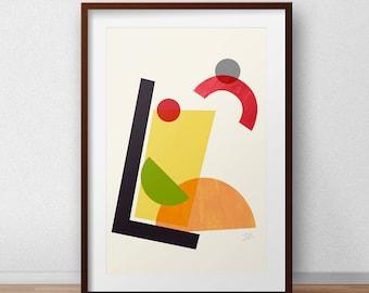 Mitte Des Jahrhunderts Moderne Kunst, Vintage Stil Druck, Abstrakte  Kunstwerk   Cocktail II Wand Kunstdruck