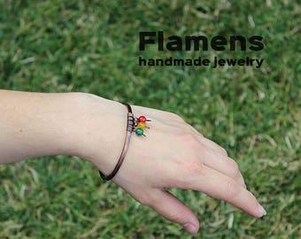 Handmade Copper Bangle - Copper Bracelet - Copper Bangle - copper jewelry - mixed metal bracelet