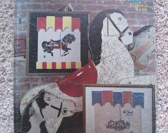 Cross Stitch Leaflet - Carousel Hourses - Leaflet 3 - Vintage 1981