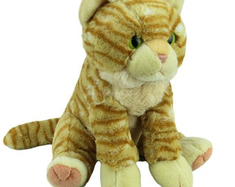 Ginger Tabby Cat Rock Climbing Chalk Bag made from a child's plush toy