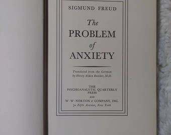 The Problem of Anxiety by Sigmund Freud
