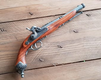 JACK SPARROW Flintlock pistol replica inspired for collectors and pirate or Steampunk costume