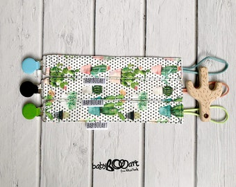 Dummy Clip | pacifier clip |  pacifier holder | baby girl | baby clips for pacifiers | clip holder | baby boy | cactus | cactus mania | baby