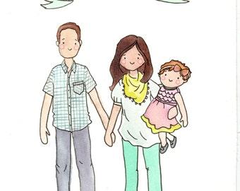 Original Custom Family Portrait