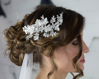 Bridal Hair Comb, Wedding hair comb, Swarovski Headpiece, Wedding hair piece, floral hair comb, hair accessories