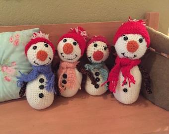 Frosty Crocheted Doll
