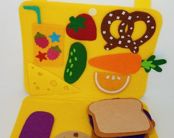 Felt Picnic Set- Custom Felt Play Set - Felt Play Food