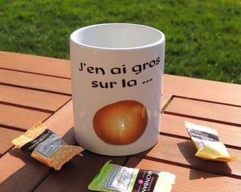 Mug j'en ais gros sur la patate, mug humoristique, citation, tasse à café, tasse à thé, tea, coffee