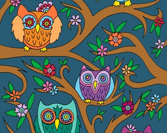 Owls Digital Download Coloring Page