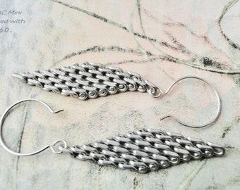 UnChainMe Dangle Earrings / Women's Drop Earrings / Gift for Her / Handmade Jewelry / Sterling Silver Earrings / Birthday Gift