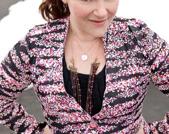 Phresh Blazer for Women, fitted blazer in petite+regular length, optional ruffles & welt pockets, short/long/3/4 sleeves, for stretch wovens