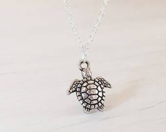 Sea Turtle Necklace, Animal Themed Jewellery, Birthday Gift