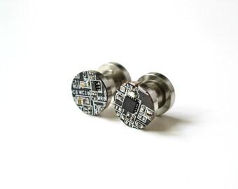 Ear gauges - Ear Geek plugs - Ear Flesh Tunnel Body Jewelry - Piercing Tube - 2G plugs