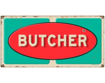 Butcher Grocery Store Wall Decal Distressed #49561
