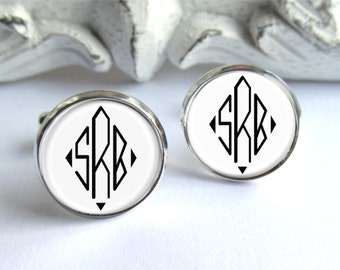 Monogram Cufflinks, Gift For Him, Personalized Cufflinks, Monogrammed Gift
