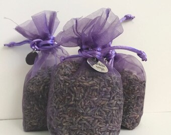 Lavender sachet bag with charm