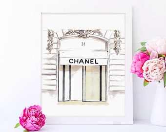 Chanel, chanel picture, Chanel Fashion illustration, Chanel print, chanel picture frame, Chanel 31 Rue Cambon, chanel poster, FREE SHIPPING