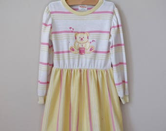 Vintage Girls Dress, Size 6 / 80s Clothing / Vintage Clothing Children / Vintage Dress Girls / Vintage Clothes