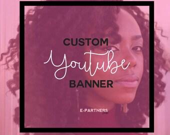 CUSTOM Youtube Banner | Youtube Header | Youtube Cover | Youtube Branding - Social Media Branding