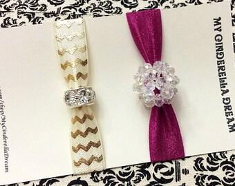 Hair ties - Beaded Hair Ties - Set of 2 hair ties - FOE hair ties - Ponytail ties - Elastic hair ties