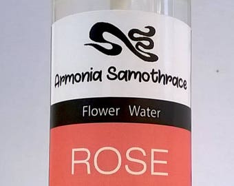 natural rose floral hydrolat, 100% pure product of distillation, all kinds of skin, natural & facial toner, refreshing, FREE shipping GREECE