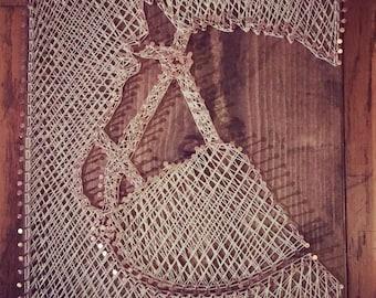 Horse - Nail and String Art