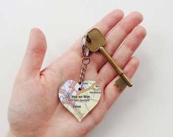 Heart Map Keyring - Choose your Location