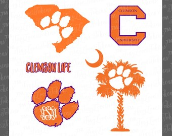 Clemson Life SVG Design for Silhouette and other craft cutters (.svg/.dxf/.eps/.pdf)