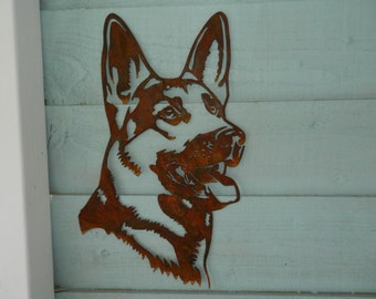 Blue German Shepherd Art Watercolor Print Blue Dog Print