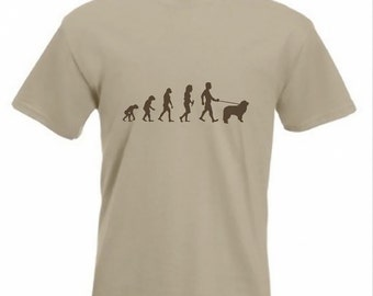 Evolution To Newfoundland t-shirt Funny Dog T-shirt in sizes Sm to 2XXL