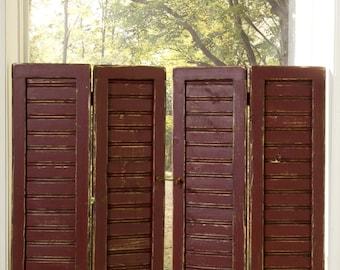 Plantation-style Primitive Beadboard Rustic Shutters