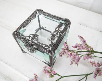 Mini glass box Etsy