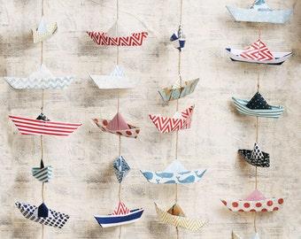 Paper Boats Photo Backdrop