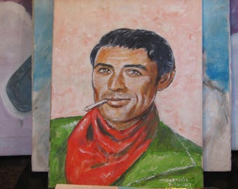 Gregory Peck cowboy with red bandana