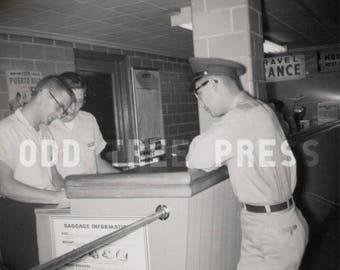 Vintage Photo Train Station Soldier 1959 - Digital Download - Prints Available