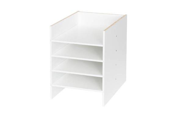 DIN A4 Fach für IKEA Kallax u Expedit Regal / weiss