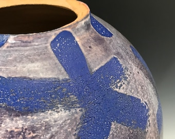Egytian Star Vase, Large Ceramic Vase