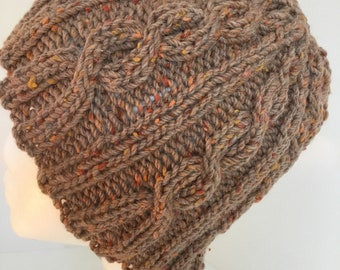 Pure wool, cable beanie