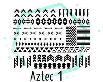 Aztec Vinyl Nail Stickers