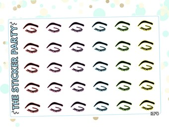 Eyebrow Planner Stickers