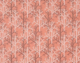 Michael Miller Birds of a Feather Twigs Coral fabric
