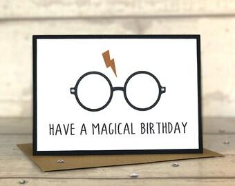 Harry Potter Card, Harry Potter, Harry Potter Birthday Card, Birthday Card, Harry Potter Gift, Hogwarts, Gryffindor, Slytherin
