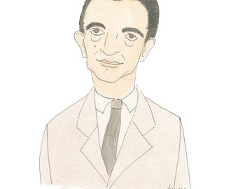 J.D. Salinger -  Literary Portrait Print