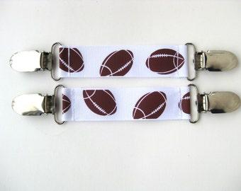MITTEN CLIPS for Kids Winter Jacket- Boys Mitten Clips- Football Mitten Clip- Mitten Keeper- Mitt Clip for Jacket-Kids Stocking Stuffer Gift