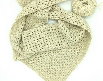 Alpaca Wool Scarf, GIft For Her, Crochet Boho Scarf, Gift For Mom, Winter Accessories, Boho Chic Scarf, Neck Warmer, Grandma Gift