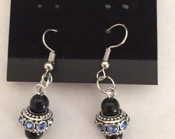 Crystal adorned earrings